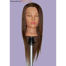 "24"" Cosmetology Mannequin Head with Human Hair - Daisy"