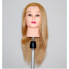 "24"" Cosmetology Mannequin Head with Human Hair - Amelia"