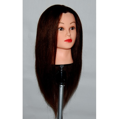 """24"""" Cosmetology Mannequin Head with Human Hair - Bella"""