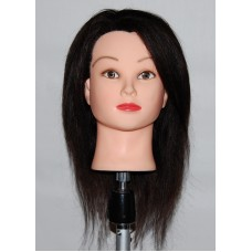 "19"" Cosmetology Mannequin Head with Human Hair - Tina"