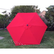 BELLRINO Replacement Chinese Red Umbrella Canopy for 9 ft 6 Ribs