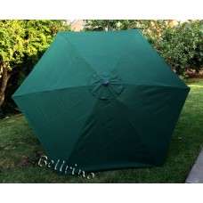 BELLRINO Replacement Hunter Green Umbrella Canopy for 9 ft 6 Ribs