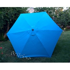 BELLRINO Replacement Lake Blue Umbrella Canopy for 9 ft 6 Ribs