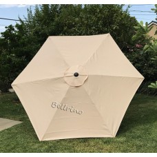 BELLRINO Replacement Light Coffee Umbrella Canopy for 9 ft 6 Ribs