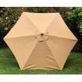 BELLRINO Replacement Medium Coffee Umbrella Canopy for 9 ft 6 Ribs
