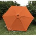 BELLRINO Replacement Orange Umbrella Canopy for 9 ft 6 Ribs