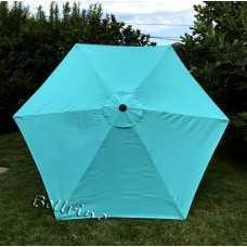 BELLRINO Replacement Peacock Blue Umbrella Canopy for 9 ft 6 Ribs