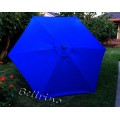BELLRINO Replacement Royal Blue Umbrella Canopy for 9 ft 6 Ribs