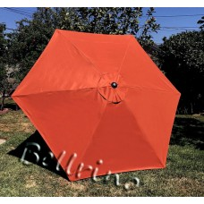 BELLRINO Replacement Tango Orange Umbrella Canopy for 9 ft 6 Ribs