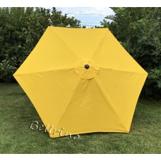 BELLRINO Replacement Yellow Umbrella Canopy for 9 ft 6 Ribs