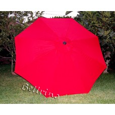 BELLRINO Replacement Chinese Red Umbrella Canopy for 10 ft 8 Ribs