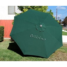 BELLRINO Replacement Hunter Green Umbrella Canopy for 10 ft 8 Ribs