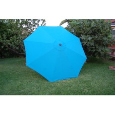 BELLRINO Replacement Lake Blue Umbrella Canopy for 9 ft 8 Ribs