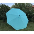 BELLRINO Replacement Peacock Blue Umbrella Canopy for 10 ft 8 Ribs