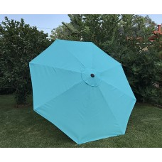 BELLRINO Replacement Peacock Blue Umbrella Canopy for 9 ft 8 Ribs