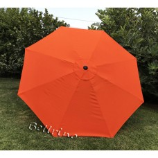 BELLRINO Replacement Tango Orange Umbrella Canopy for 9 ft 8 Ribs