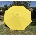 BELLRINO Replacement Yellow Umbrella Canopy for 9 ft 8 Ribs